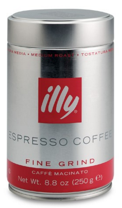 Illy Espresso, Medium Roast, Finely Ground Coffee