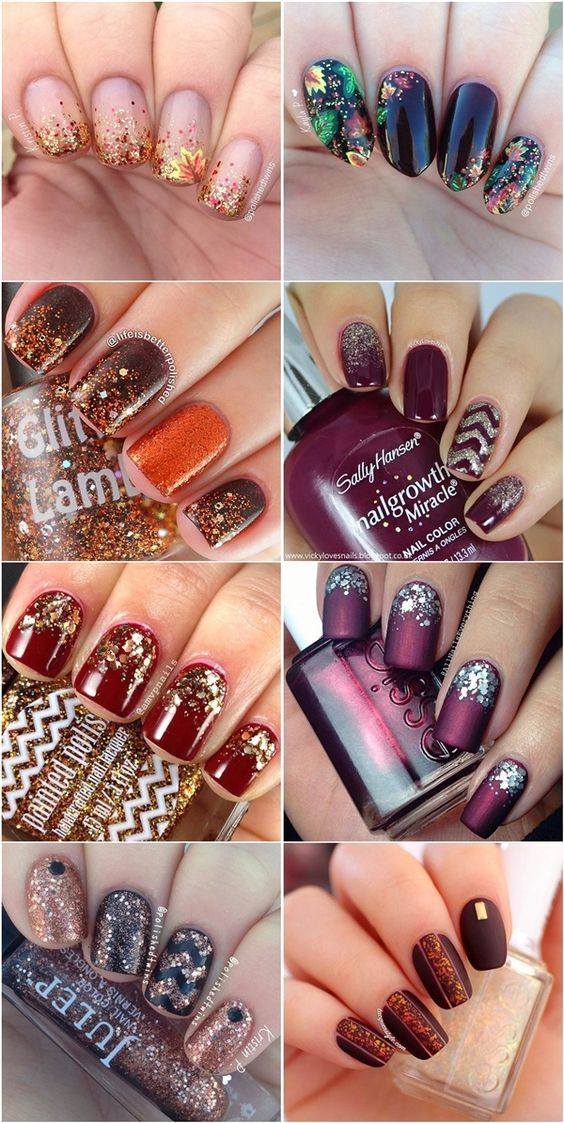 fall nail ideas- autumn nail designs & colors: | Nails | Pinterest ...