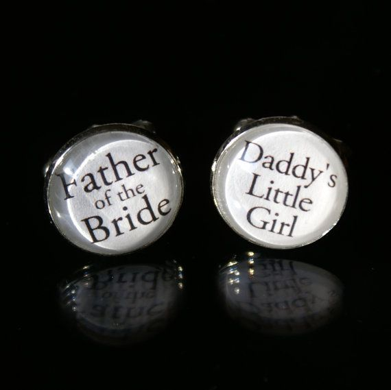 Daddy's Little Girl & Father of the Bride Cuff Links by cuffitt, $25.00