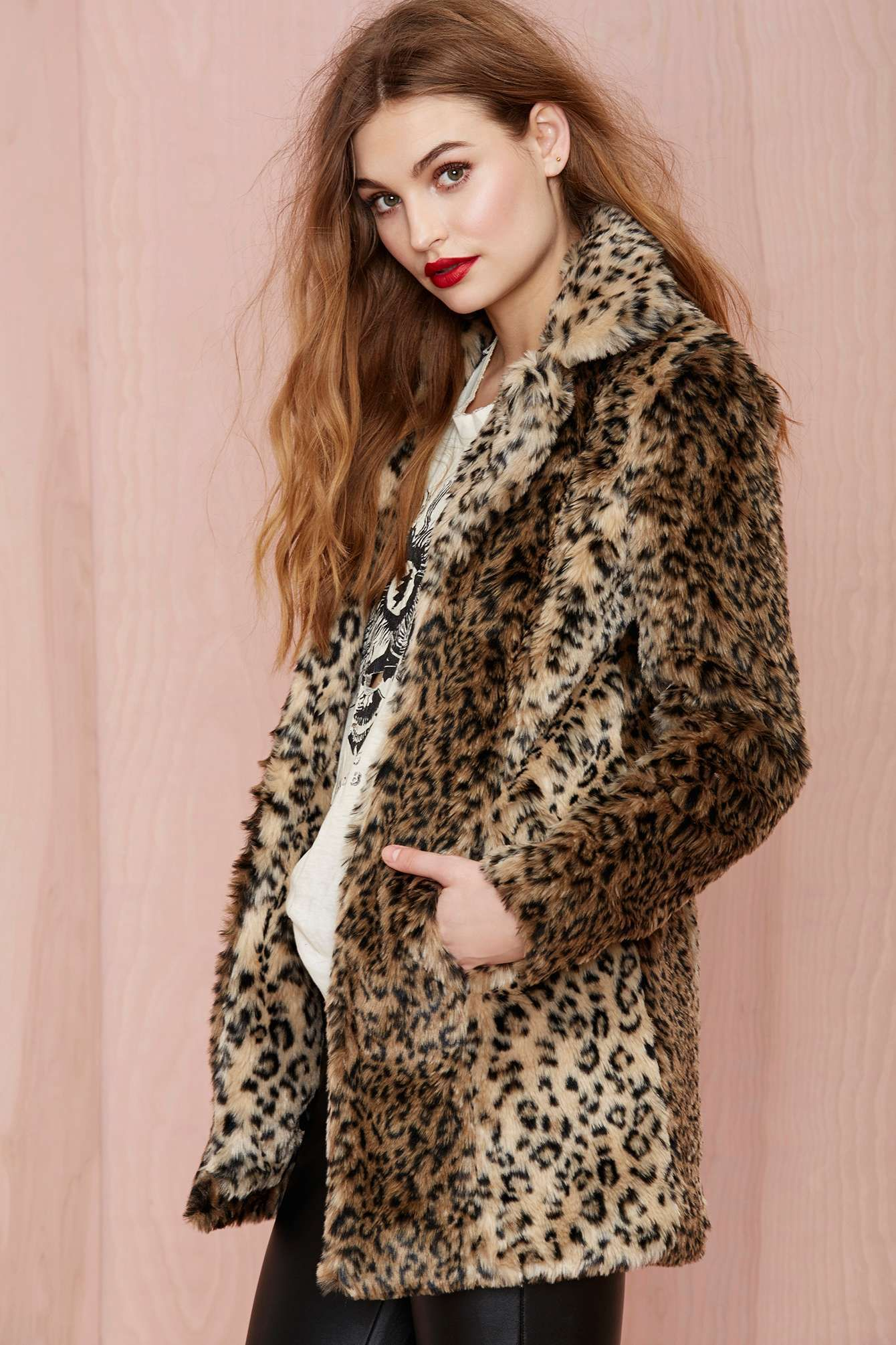 Faux leapord coat hair love pinterest coat jackets and faux fur