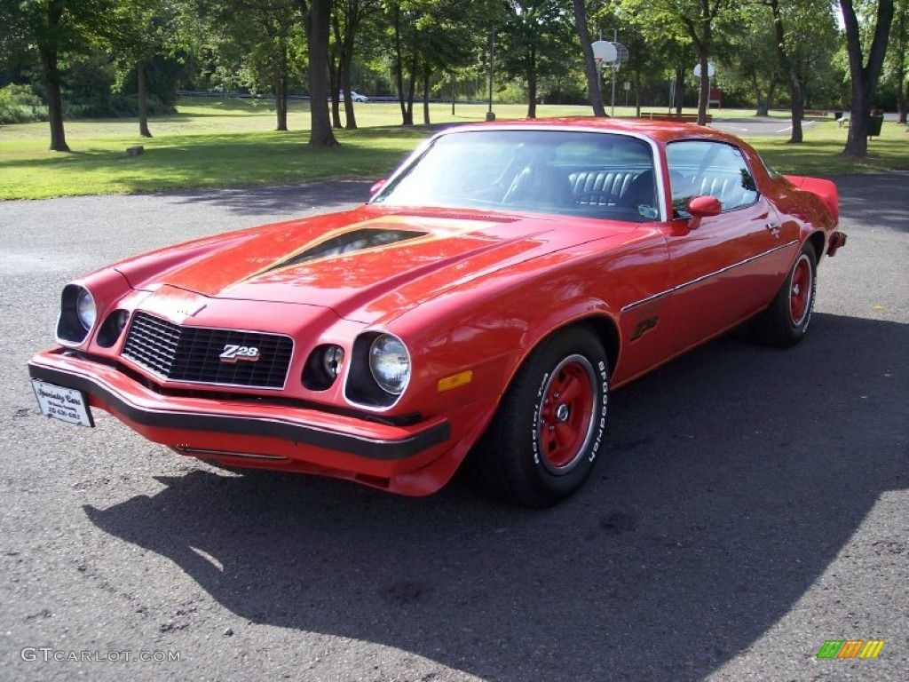 1977 Camaro  Light Red 1977 Chevrolet Camaro Z28 Coupe Exterior