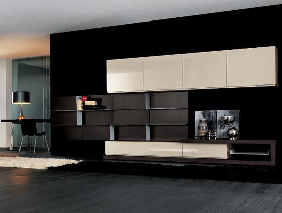 Lovely Modern Living Room With Stylish TV Cabinet