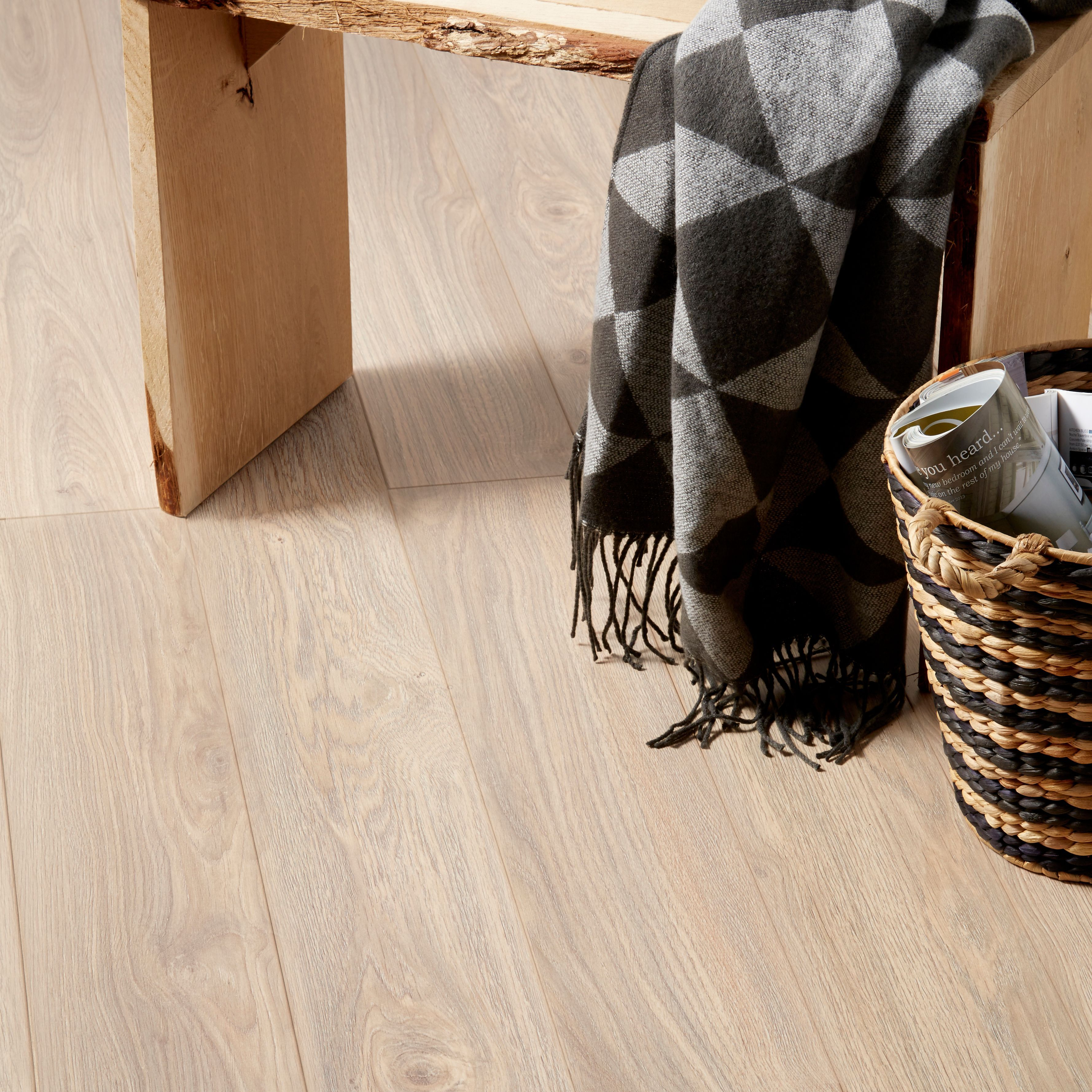 Gawler Natural Oak Effect Laminate Flooring Sample Departments Diy At B Amp Q Laminate Flooring Goodhome Laminate Flooring Colors