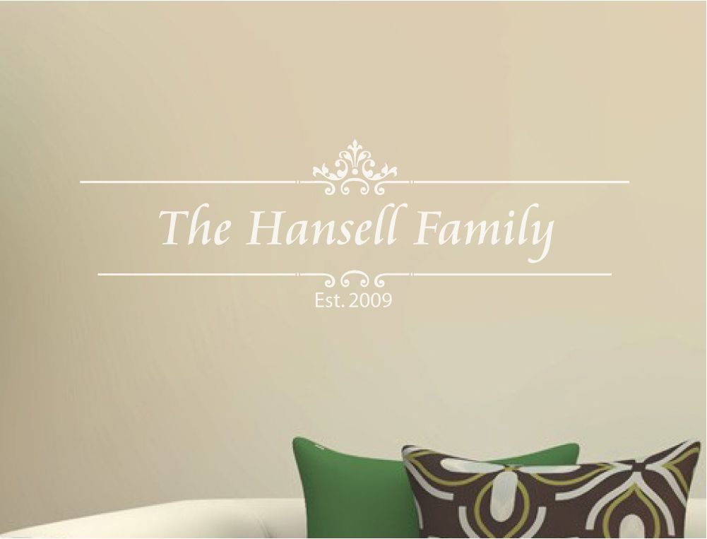 Family Name Wall Sticker Family Wall Decal Aspect Wall Art