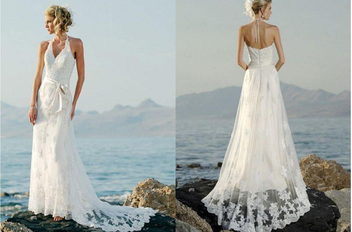 Comfortable Halter Beach Wedding Dresses Photos - Wedding Ideas ...