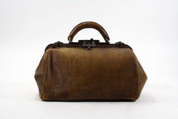 Vintage Leather Doctors Bag / Vintage Leather by HuntandFound, $89.00