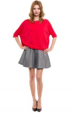 ad27b9f0c5 Simple - Spódnica mini rozkloszowana szara