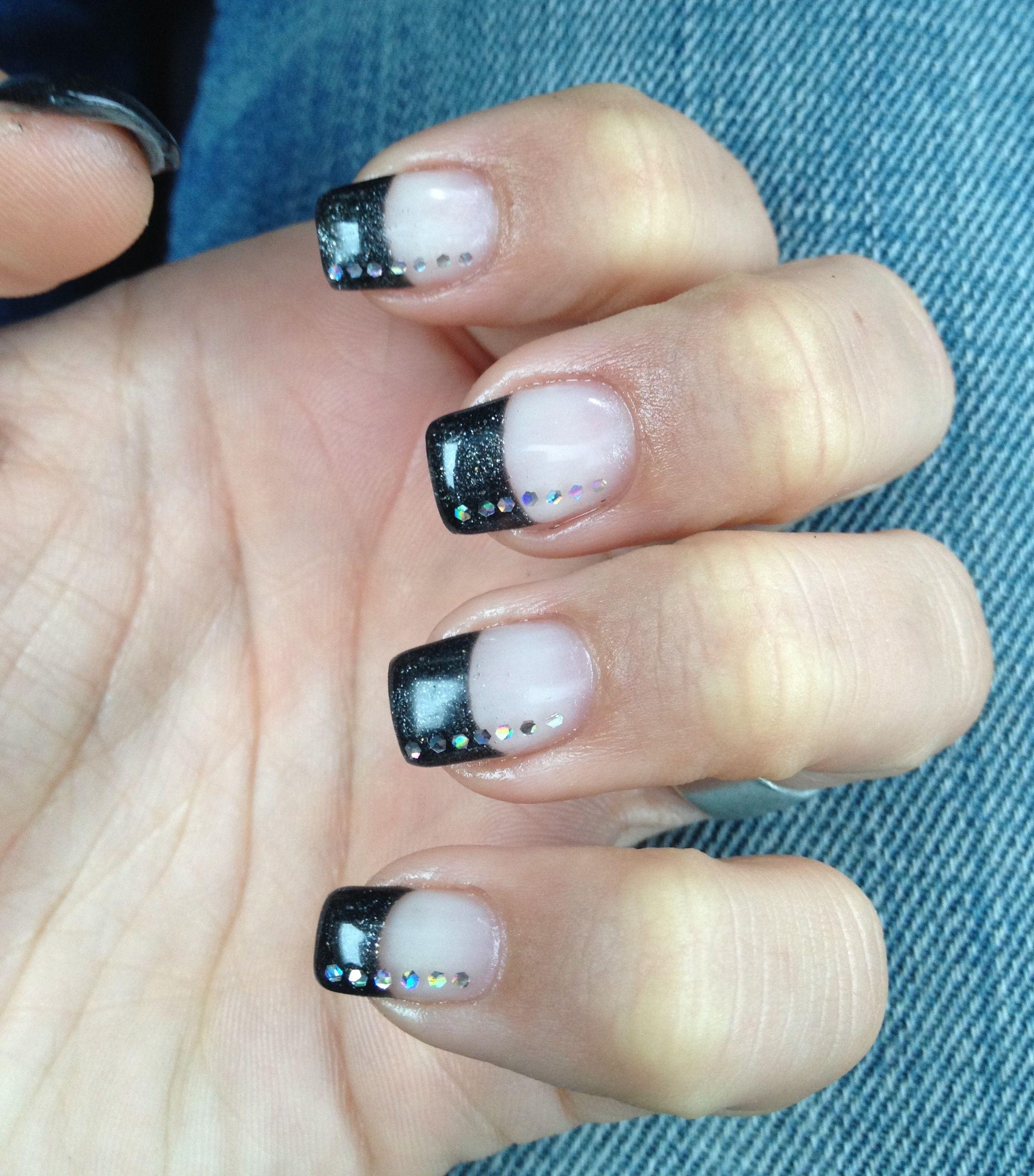 French Nails Black   Nails   Pinterest   French nails