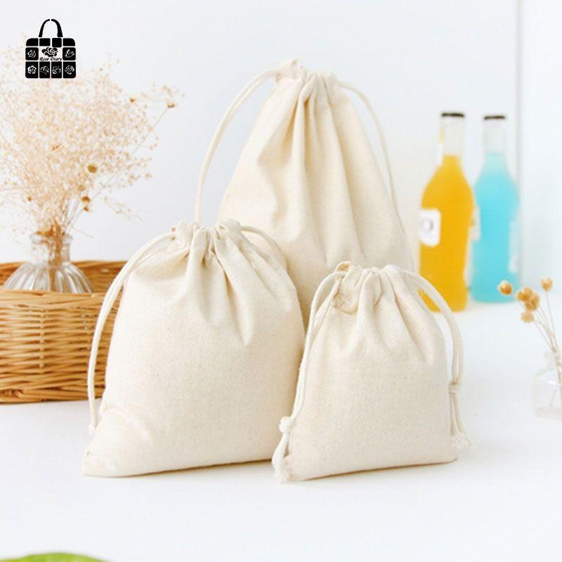 Natural Color Cotton Linen Fabric Dust Cloth Bag Cotton Shopping Bags Linen Bag Cloth Bags