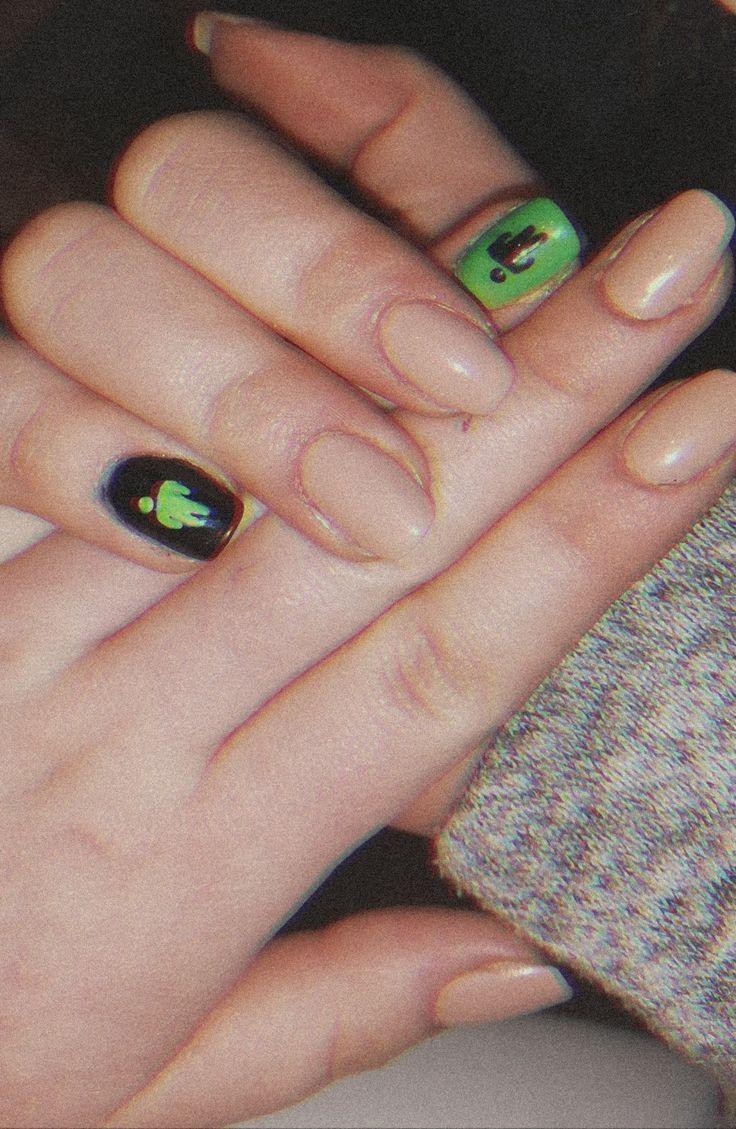Billie Eilish Nails Billie Eilish Nails Edgy Nails Billie Eilish No Chip Nails