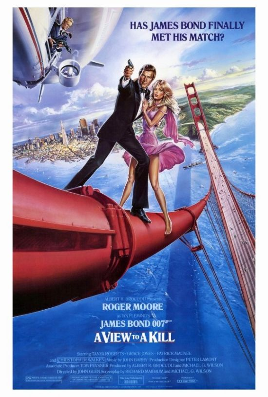 A View To A Kill Movie Poster Print 27 X 40 Item Movif1162