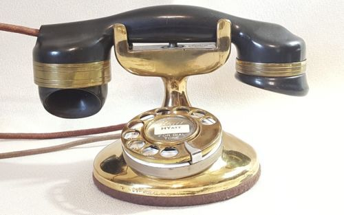 Vintage Brass Monophone Automatic Electric Telephone
