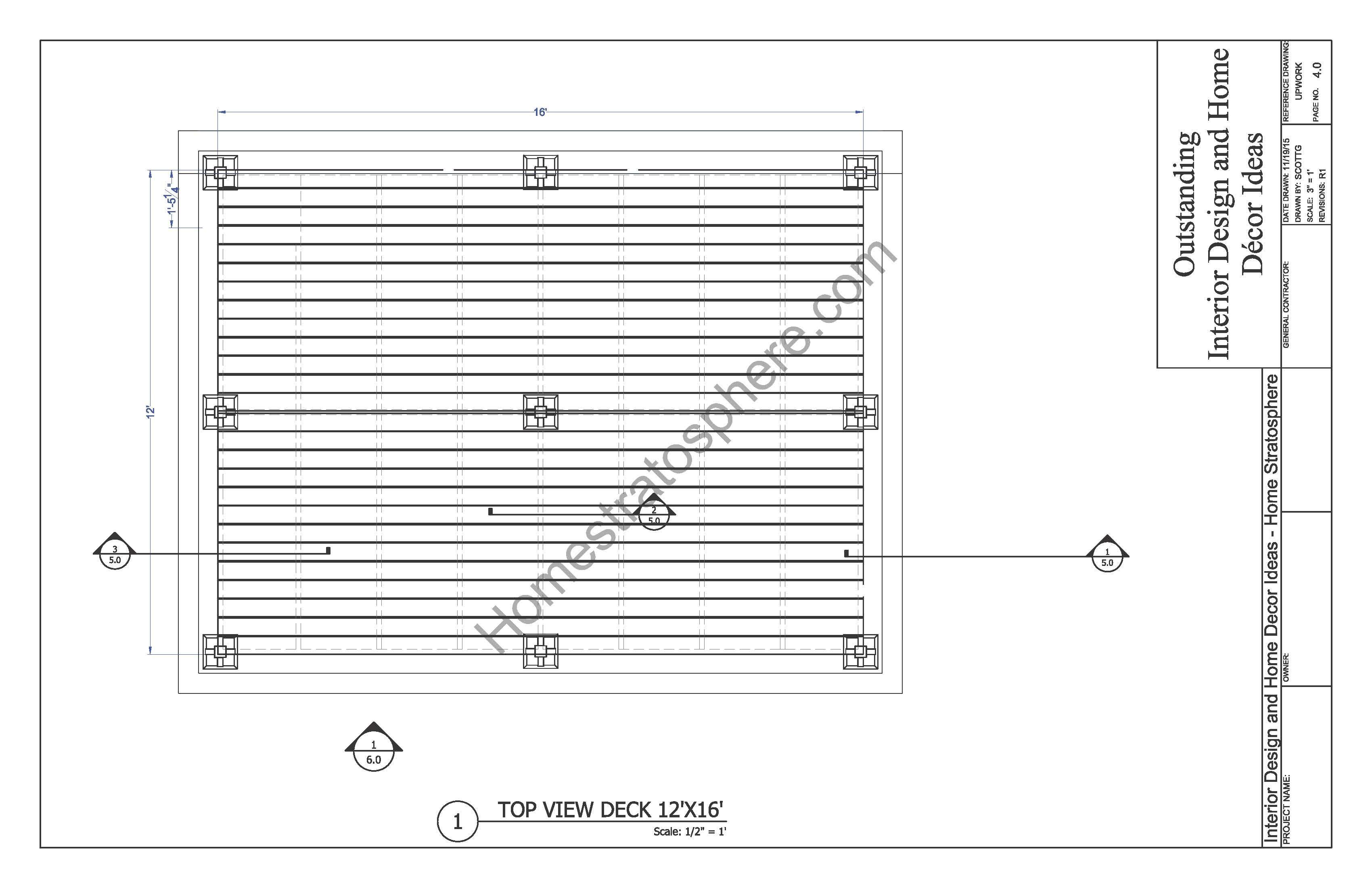 Free Ground Flat Deck Plan With Pdf Blueprint Download Deck
