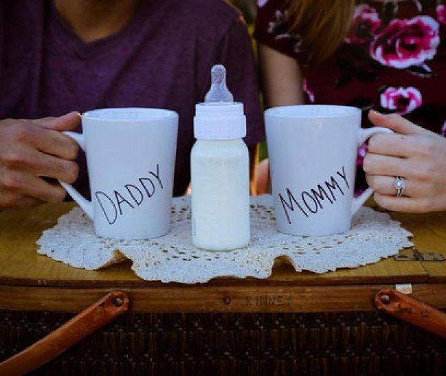 wir bekommen ein baby 25 kreative ideen um die schwangerschaft zu verk nden schwangerschaft. Black Bedroom Furniture Sets. Home Design Ideas