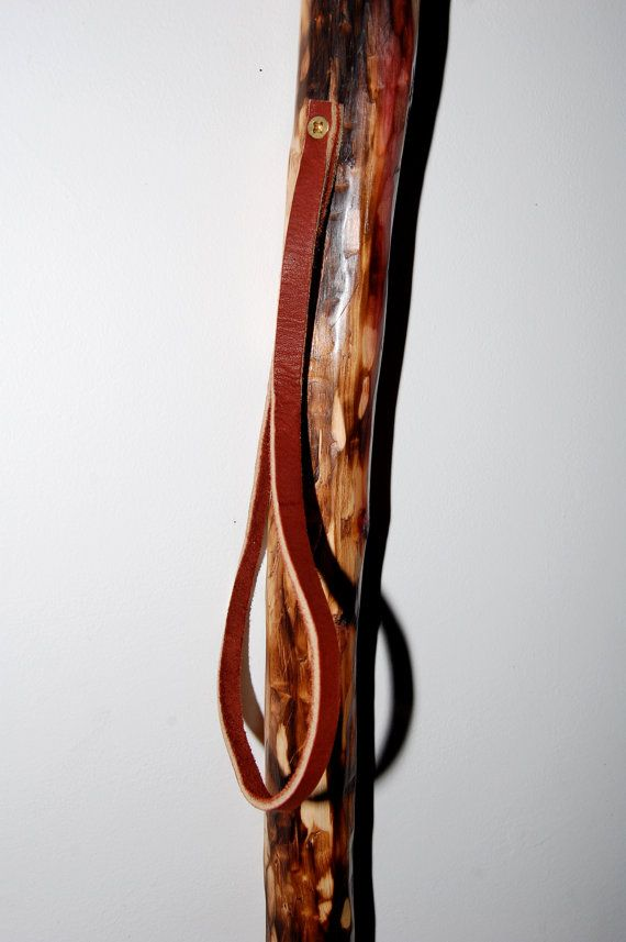 Mountain Goat Wooden Cane Walking Stick Support Handle Handmade Hand Carved New