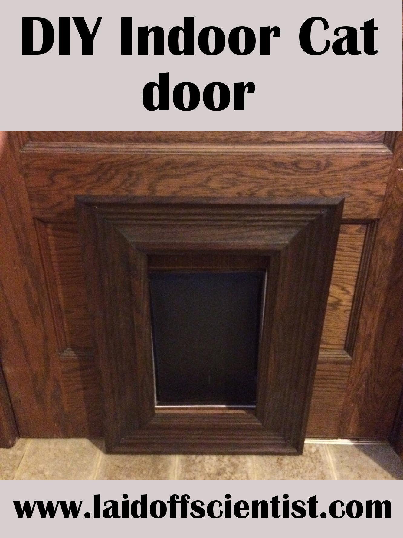 Diy indoor cat door laidoff scientist cat door diy