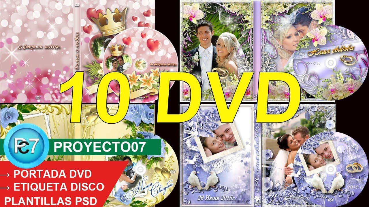 10 DVD [ PORTADA y ETIQUETA] psd - MATRIMONIO - capas editables ...