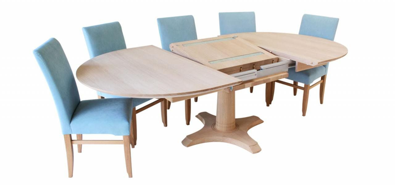 Circa II Oval Dining Table With Extension Mechanism Open