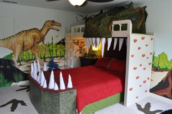 Spectacular Dinosaur Theme For A Small Bedroom Dinosaur Theme Bedroom Bedroom Themes Dinosaur Bedroom