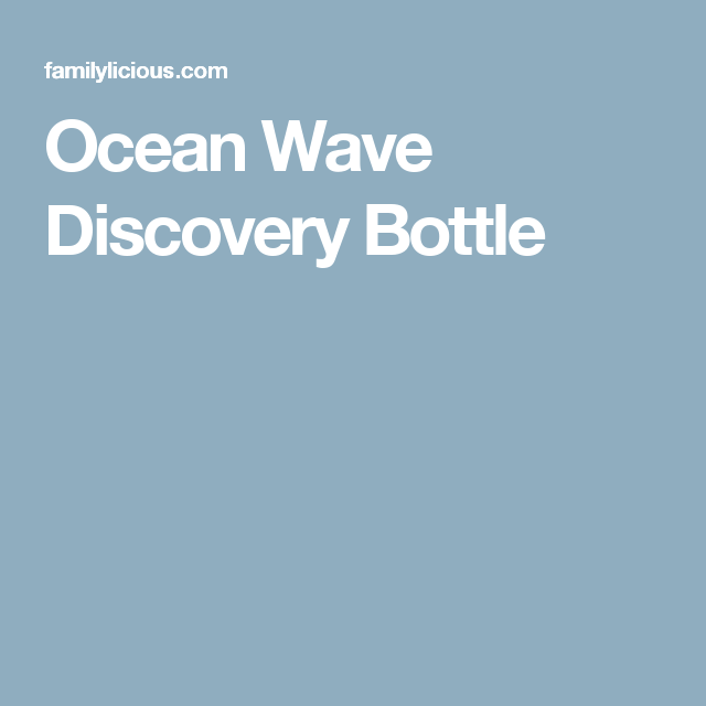 Ocean Wave Discovery Bottle