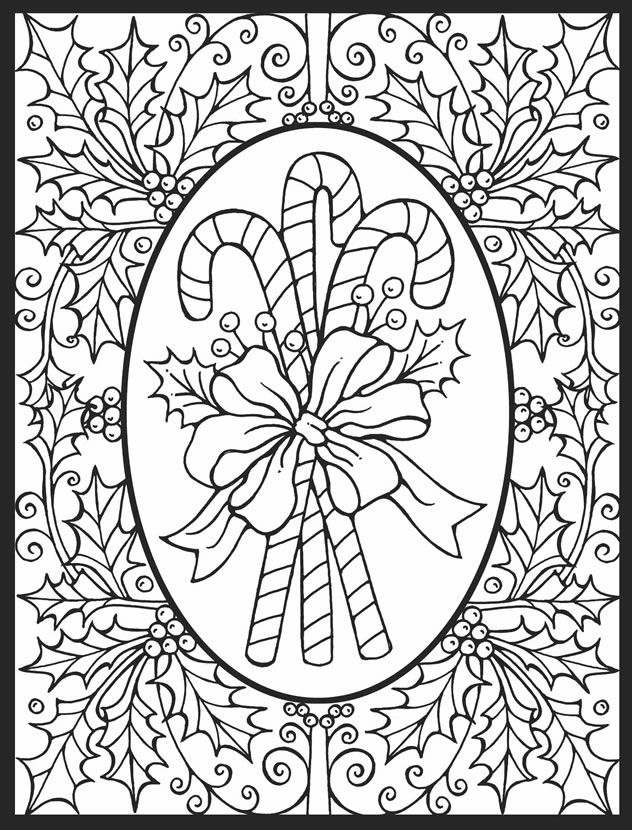 candy cane free coloring page