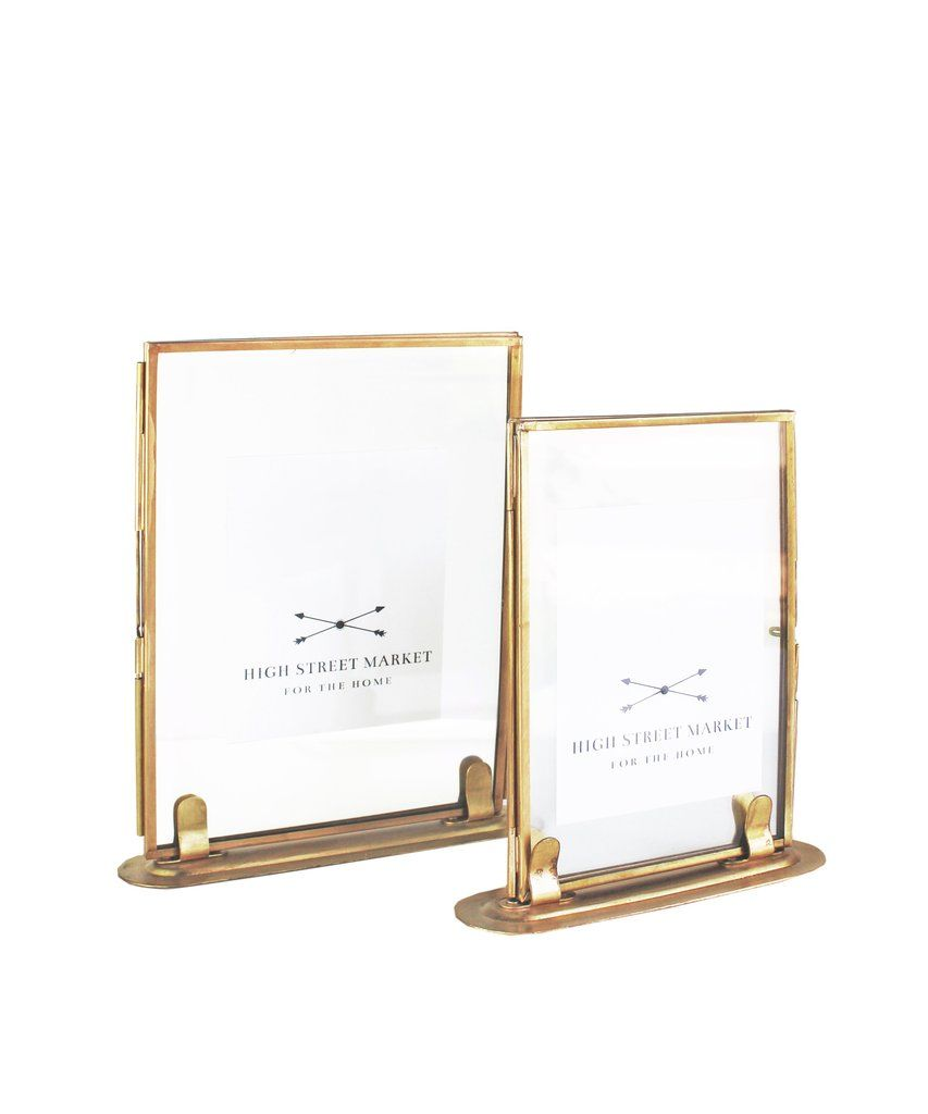 Double Sided Glass Picture Frame Brass 2 Sizes Available Entry