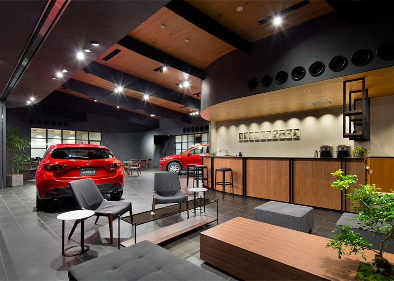 Suppose Design Office Completes Car Showroom For Mazda Car Showroom Interior Showroom Interior Design Showroom Design