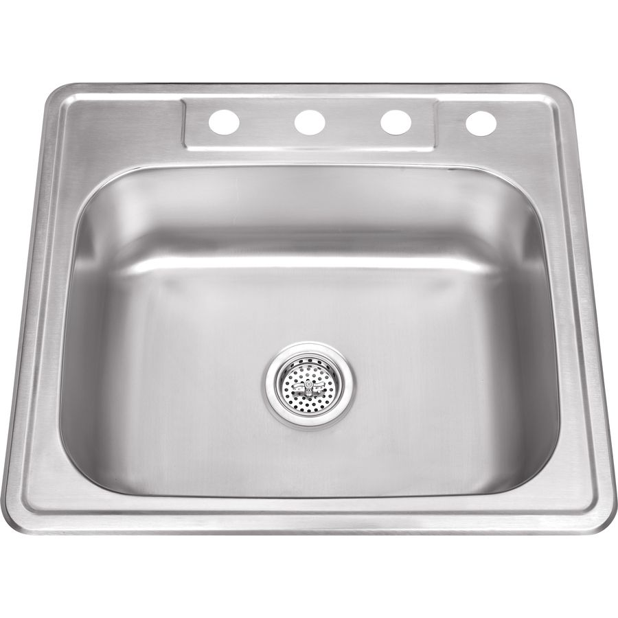 Superior Sinks 25-In X 22-In Brushed Satin Single-Basin Stainless ...