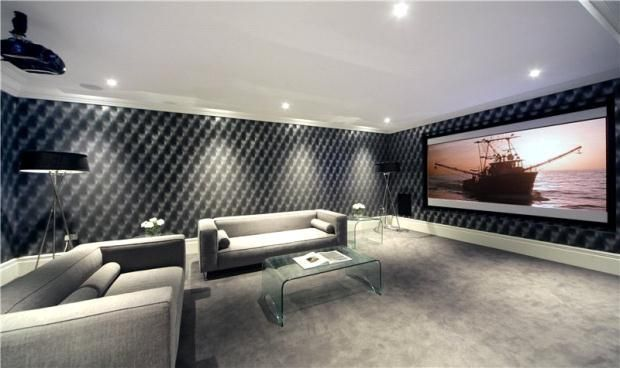 Patterned Wallpaper Black Zoopla Home Cinema Room Home Buying Tips Home