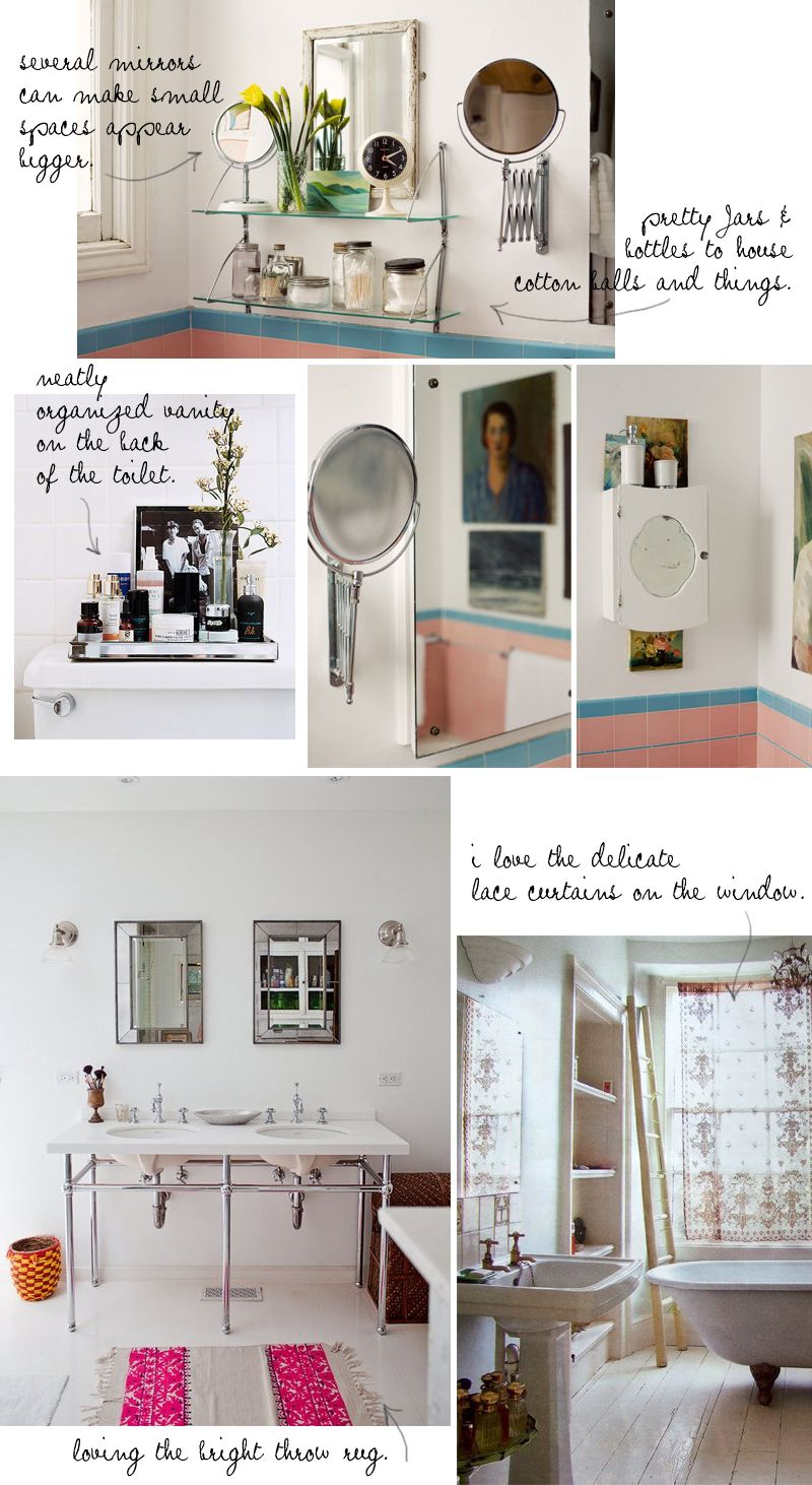 tiny bathroom inspiration on the bleubird blog.