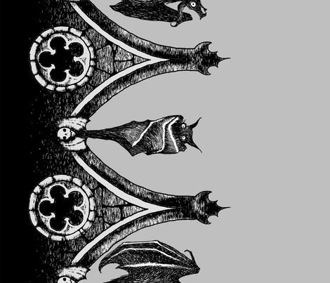 crypt bats cotton fabric by thecalvarium - Images Of Bats 2