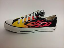 Converse All Star Flame Ox 1H732 Black Mens Womens Very Rare Shoes ... f34dcfcfc3