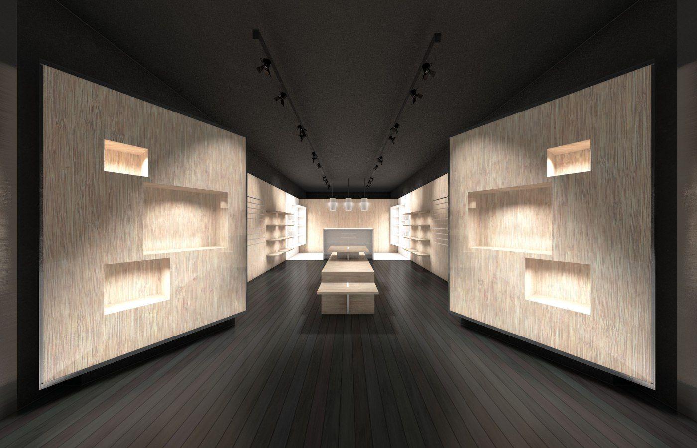 0c7b2e56e3 Estamos a desenvolver com muito interesse um modelo arquitectónico para uma  cadeia de lojas de acessórios de moda. Altamente modular