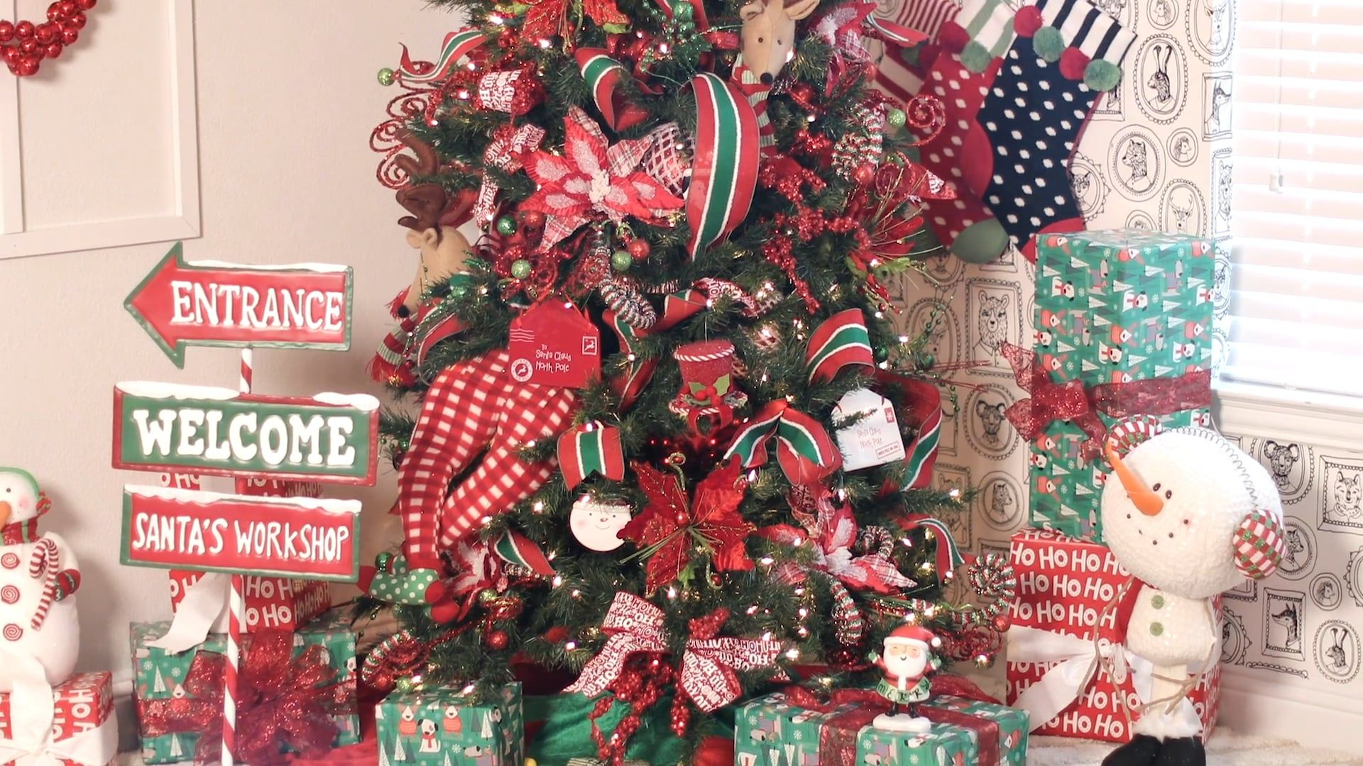 North Pole Party Tree Bundle Header Video In 2020 Large Christmas Decorations Christmas Tree Decorating Themes Storing Christmas Decorations