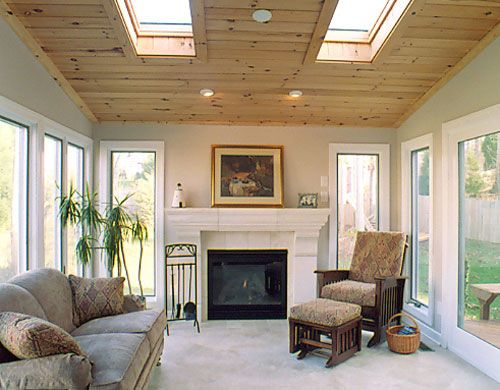 Sunroom With Beadboard Ceiling Quality Design