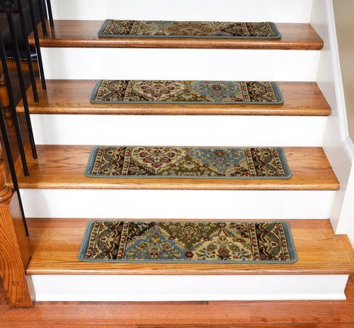 Best Dean Premium Carpet Stair Treads Panel Kerman Cloude Rug 400 x 300