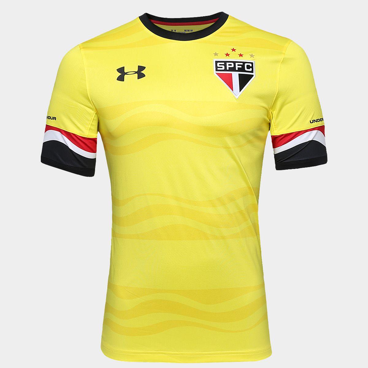 d4cb003d53d Camisa Under Armour São Paulo III 16 17 s nº - Jogador - Amarelo+ ...