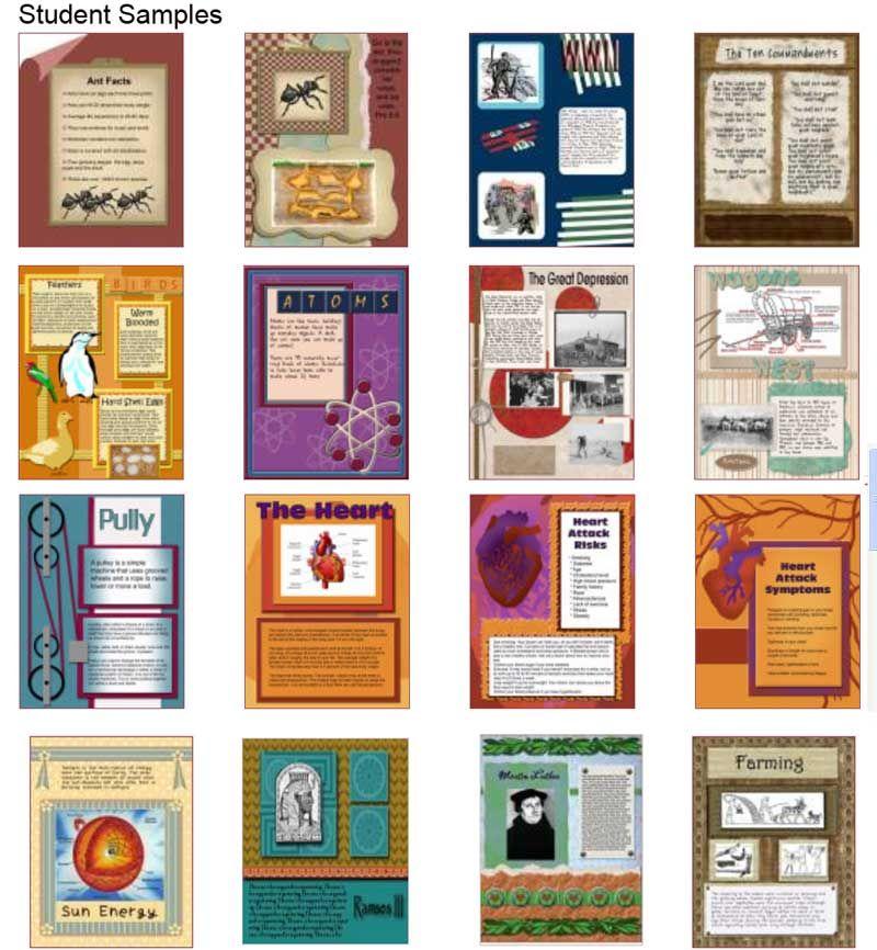 Scrapbook Samples Homeschool History Pinterest Digital