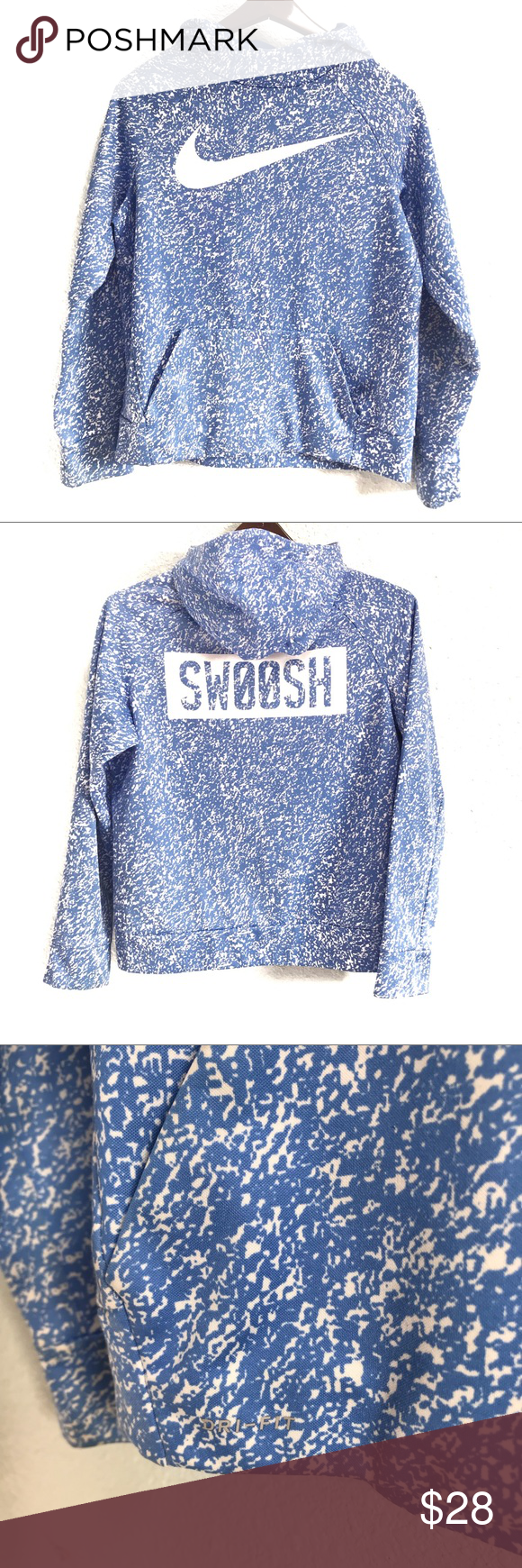 Predownload: Nike Dri Fit Swoosh Blue Polka Dot Hoodie Youth Xl Polka Dot Hoodie Clothes Design Youth Hoodies [ 1740 x 580 Pixel ]