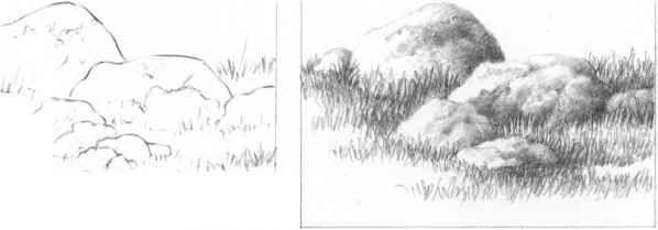 Pencil Drawings Rocks