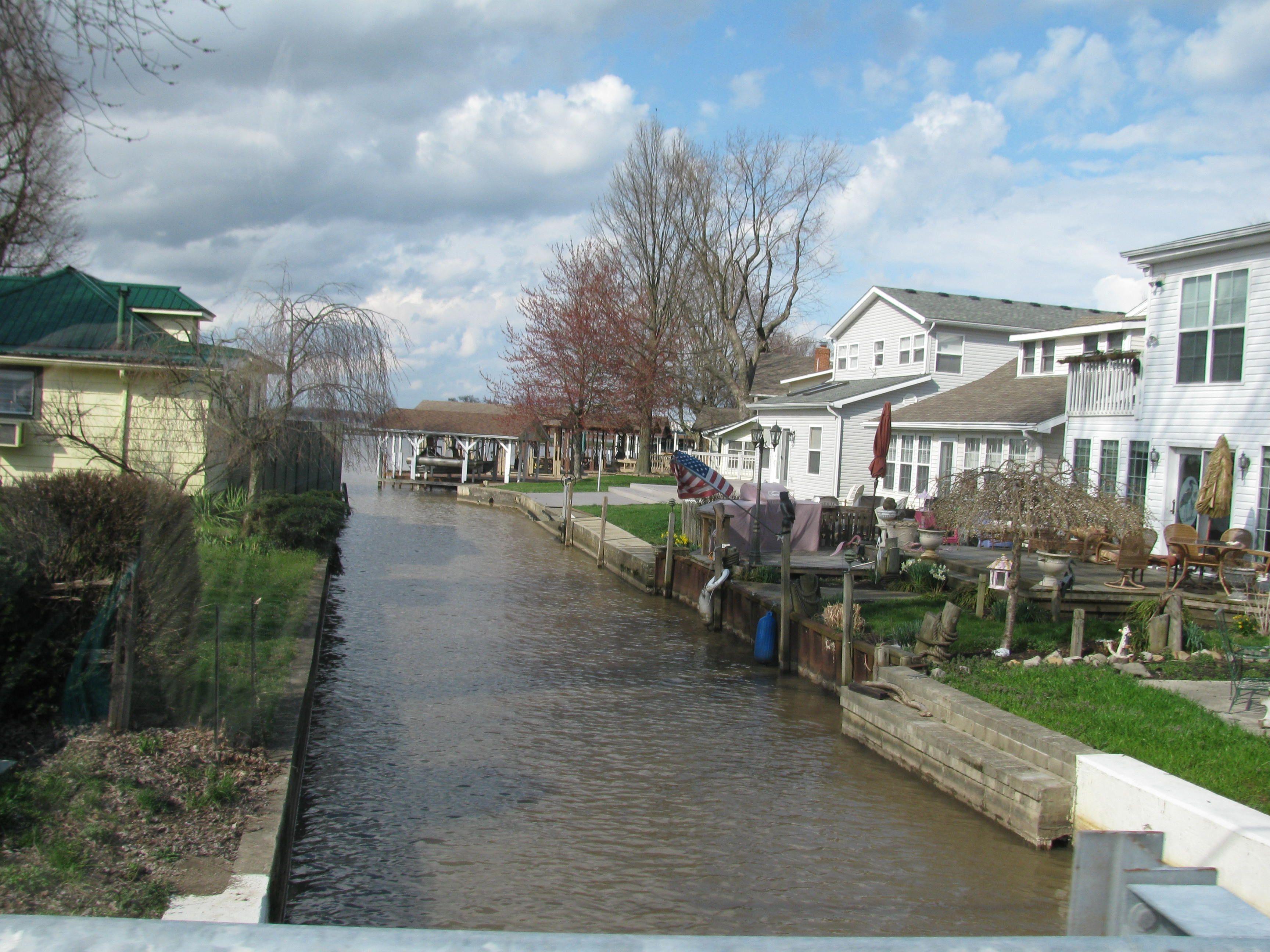 Canal at buckeye lake phio buckeye lake portsmouth