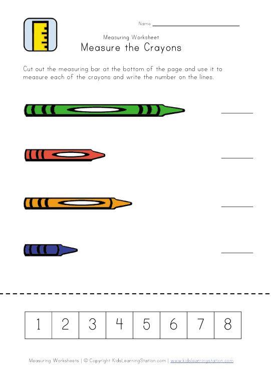 Crayon Measurement Printable | Preschool - School Rules & Routines ...