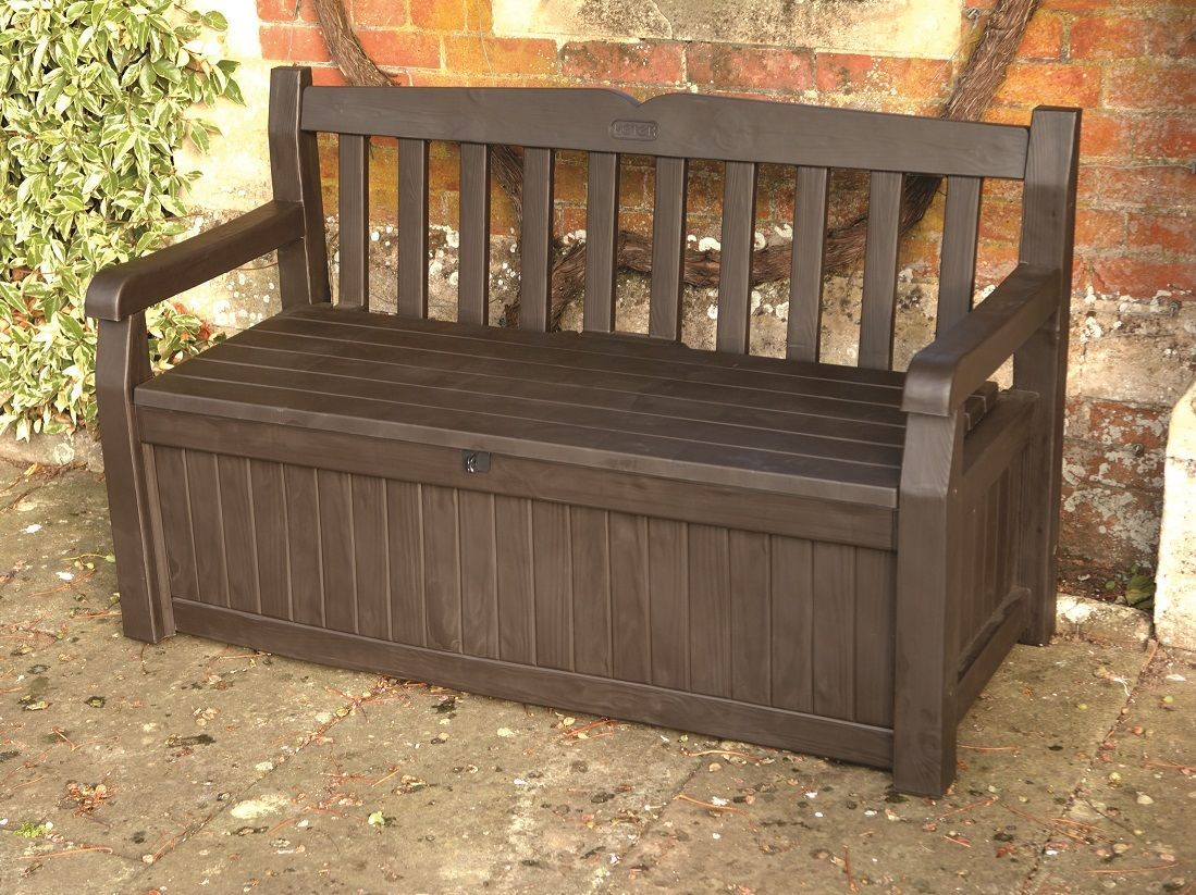 Wondrous Keter Iceni Garden Storage Bench Box 265Ltr Capacity Evergreenethics Interior Chair Design Evergreenethicsorg