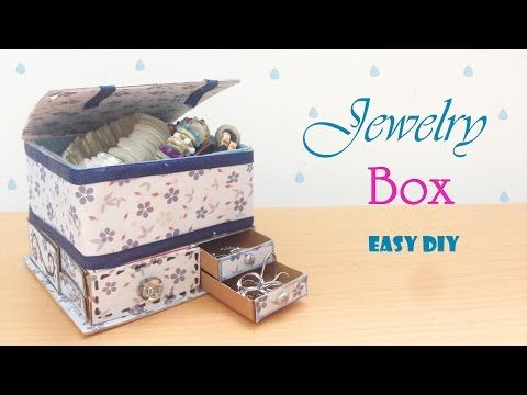 DIY Jewelry Organizers Box Recycling Cardboard YouTube Recycle