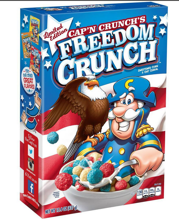 Cap N Crunch Freedom Crunch Cereal Cereal Recipes Crunch Cereal Cereal Brands