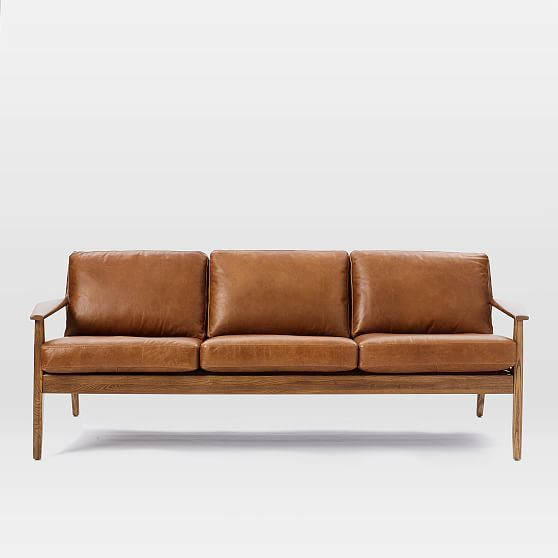 Mid Century Wood Frame Couch | Wooden Thing