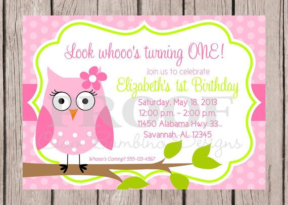 Printable Invitation  Look Whoooo's Having a Party by ciaobambino, $12.00