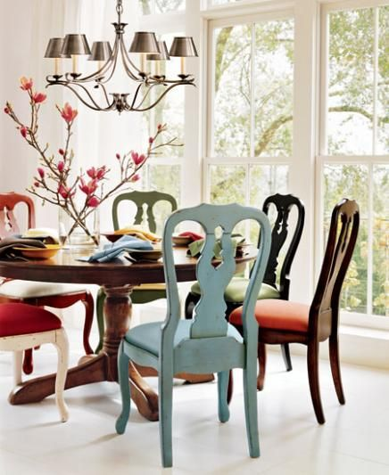 Dining Chairs Different Colours