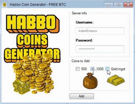 habbo credits cheap