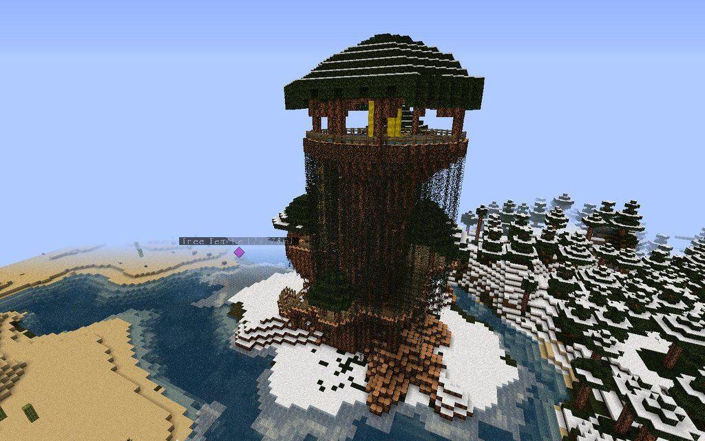 Minecraft Tree Temple | Minecraft tree, Cool minecraft ...